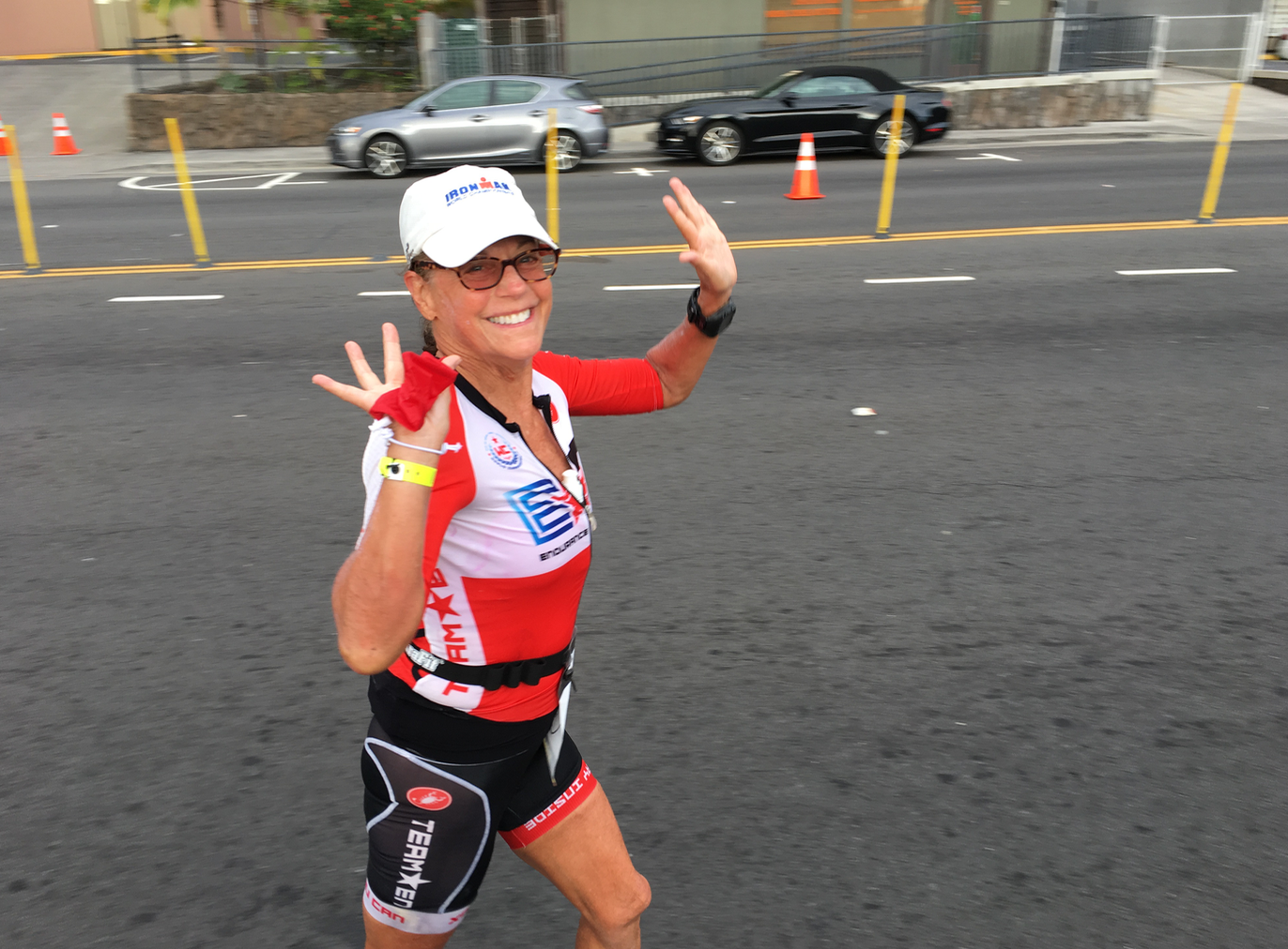 Carol Headed Out of T2 For a Little Marathon!