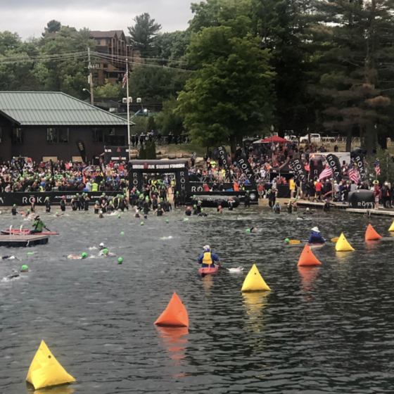 Ironman Lake Placid Swim Start
