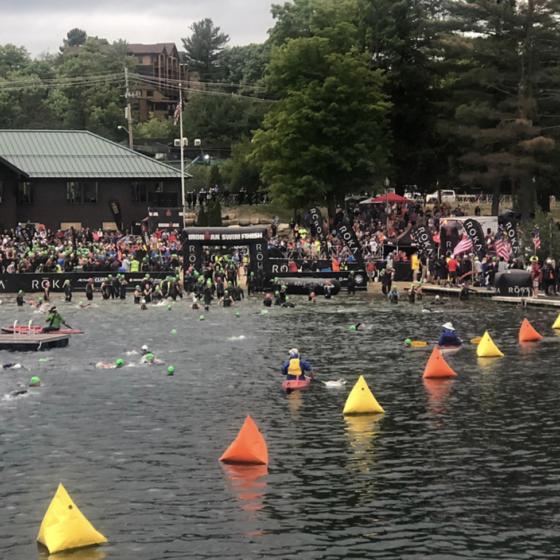 Ironman Lake Placid Swim Start